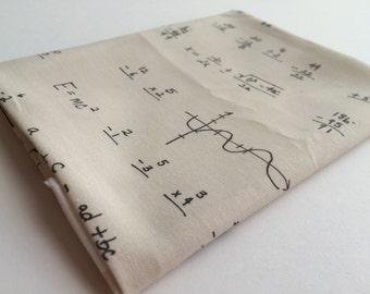 Fat Quarter - Math Text Fabric