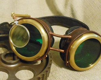 Base Brass Goggles for your Deisel Punk, SteamPunk, Cosplay, Burning Man or Wasteland Weekend event