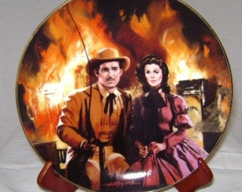 "Gone with the Wind Golden Anniversary ""The Burning of Atlanta"" Commemorative Plate"