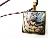 Batman Glass Pendant Necklace