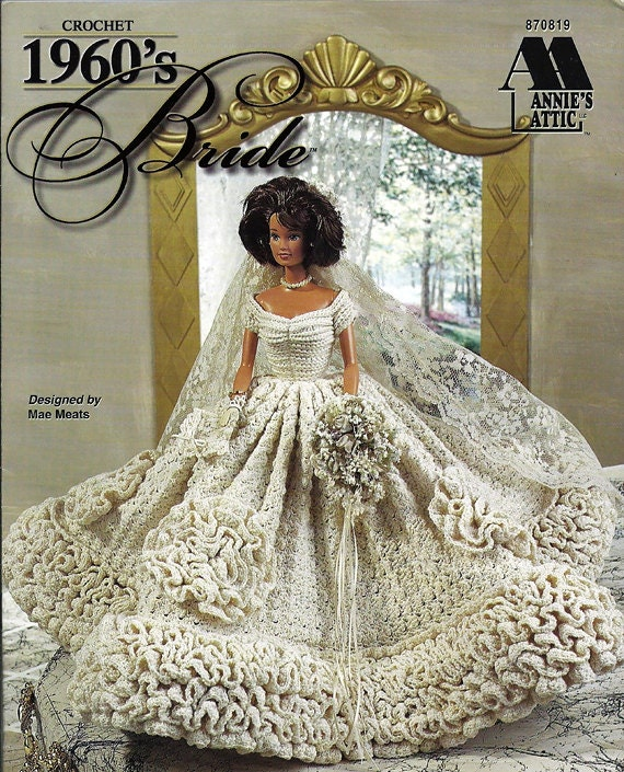 1960 s Bride Gown Crochet Pattern Annies by grammysyarngarden