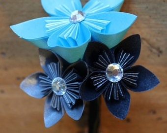 Boutonniere - Wedding Accessory - Kusudama paper flowers
