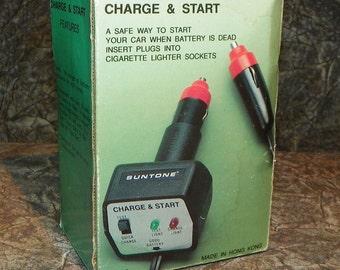 Suntone Charge & Start Auto Battery Charger 1970's in Original Box Automobilia