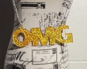 OMG Laser Cut Acrylic Necklace