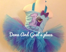 Cute birthday monster inc Boo  tutu And top