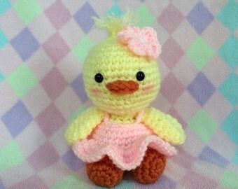 crocheted amigurumi duck