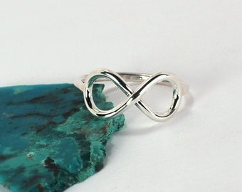 Infinity Symbol Ring, Sterling Silver, Made to Order