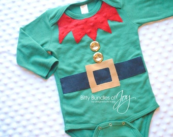 Christmas Holiday Elf Infant Baby Bodysuit One Piece