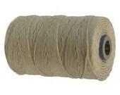 10 yards, Natural Irish Waxed Linen, 4 ply