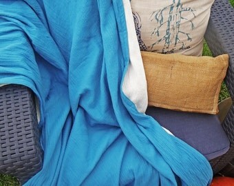 4 Layer Adult Muslin Throw Blanket