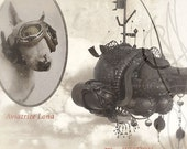 "Steampunk Frame with a strange photography by martinefa -  ""Convoyeur de Rêves"""