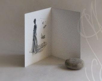 "Martinefa's Postcard ""Songe"" - Card to open - 10 x 15 cm"