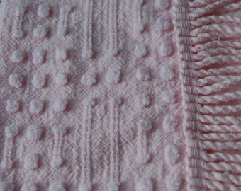Sweet Baby Pink Morgan Jones Vintage Chenille Fabric