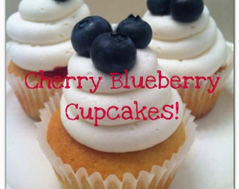 Cherry Blueberry Cupcakes-Made to Order