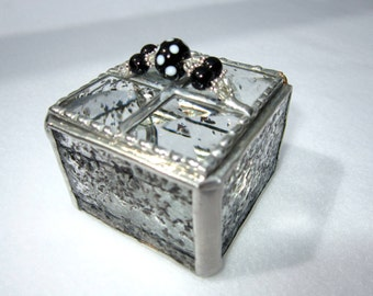 Stained Glass Jewelry Box, Trinket Box, Gift Box, engagement ring box, Mothers Day, Valentine's Day