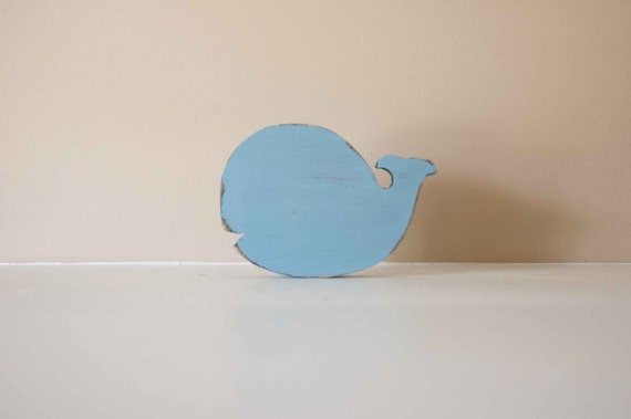 Wood Whale Shabby Chic Nursery Cottage