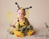 "Bumble Bee Halloween Costume - ""Tutu Cute"" Bumble Bee Costume - Girl Toddler Baby Infant Newborn Halloween Costume"