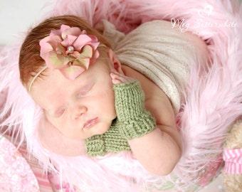 Baby Fingerless Gloves, Knit Hand Warmers for Newborns