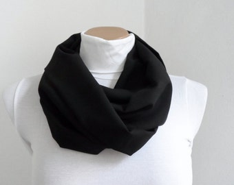 Gray Circle Scarf Infinity Scarf Loop Charcoal Gray Mens Womens Scarf  Unisex Scarf