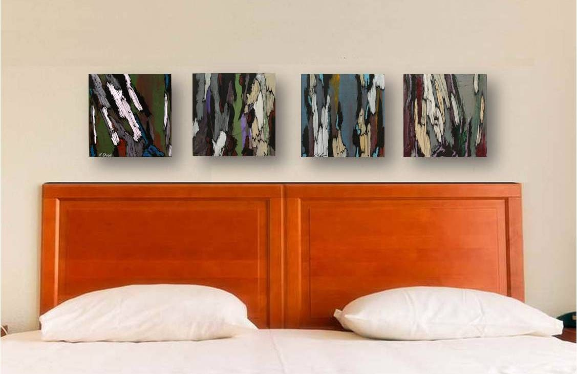 Original Paintings Gift For Him Men Canvas Masculine Wall Art