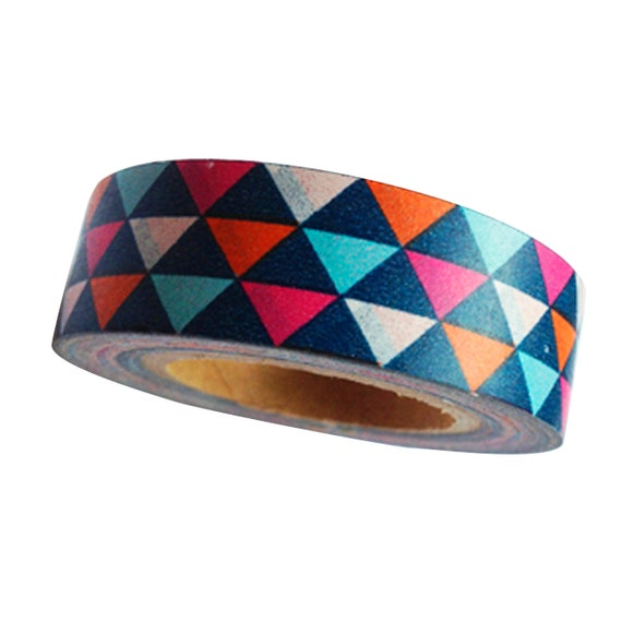 Geometric triangles colorful washi tape 16 by for Geometric washi tape designs