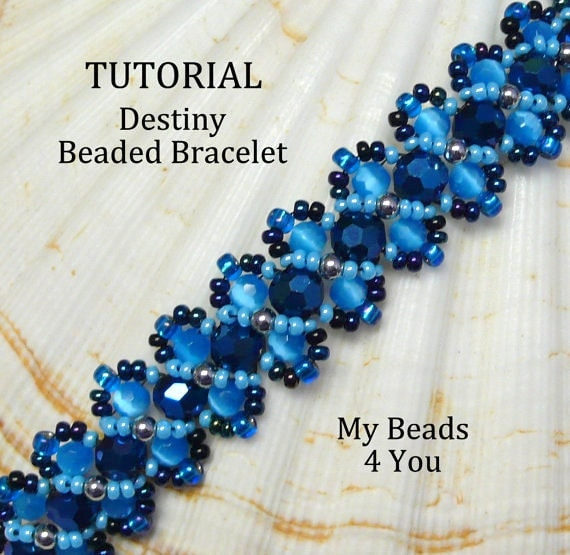 Beading Tutorial,PDF Beaded Bracelet Pattern,Embellished Bracelet Pattern,Beadwoven Bracelet Pattern,Seed Bead Tutorial,PDF Beading Pattern