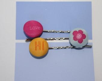 Button Bobby Pin