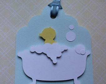 Baby Duck Shower Tags