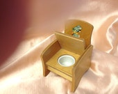 RESERVED Strombecker 1950's Doll Potty Chair