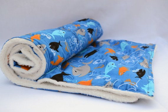 Shark Attack Ultra Cuddle Fleece Appliqu 233 Toddler Blanket