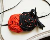 Halloween Flower headband, baby headband, newborn headband, photography prop, orange headband