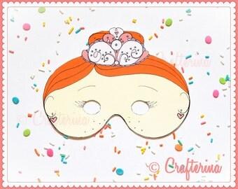 Sugarplum Fairy from the Nutcracker Ballet Printable Mask Set