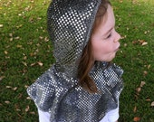 Knight's Sparkly Chain Mail Hood - Halloween Costume - Kid Costume