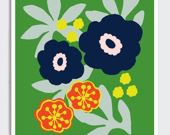 Tropical Punch Flower Patch Giclee Prink 8.5 x 11 inches