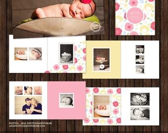 12x12 Millers Lab Layflat Album, Baby, Newborn, Family, Photo Album - AL3