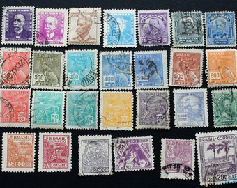 30 Vintage Stamps from Brazil (lot 49)
