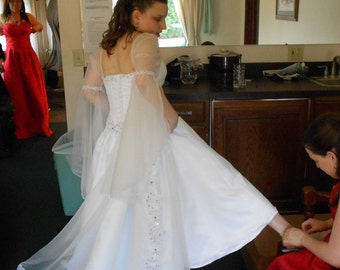 Custom Made Renaissance Wedding Gown