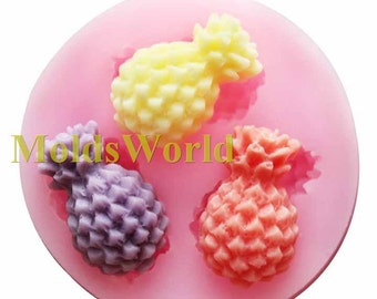 A484 Mini Pineapple Fruit Silicone Mold Silicon Mould For Polymer Clay Crafts Jewelry Cake Decorating Decoration Mold Making Makes