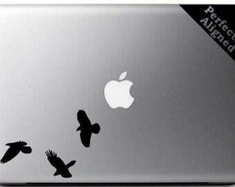 Raven Trio Vinyl Macbook Decal - For macbooks, laptops, car windows etc...