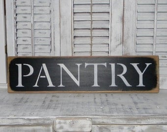 Pantry Sign Wall Decor Rustic Country Home Decor Signs