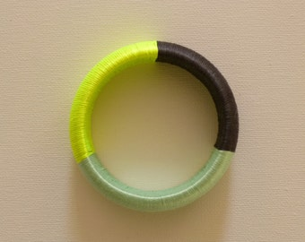 Neon Yellow Bangle Bracelet