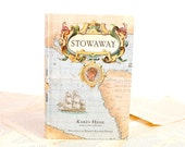 Book Kindle, Nook or mini iPad Cover- Ereader Case- Stowaway- Travel Map