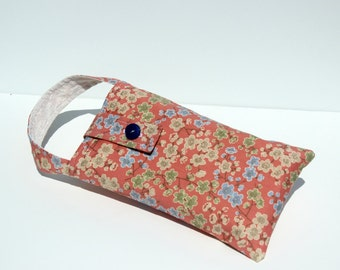 Diaper Wristlet Small Diaper Bag Free Priority Shipping in US Coral and Cream