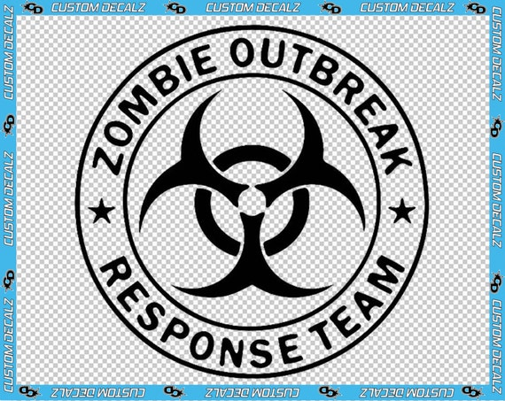 "2.5"" x 2.5"" Zombie Outbreak Response Team Vinyl Decal / Cell Phone Decal / Small Decal / Window Decal / Apocalypse"