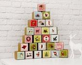 Nostalgic Vintage Style Advent Calendar Set of 25 Paper Boxes