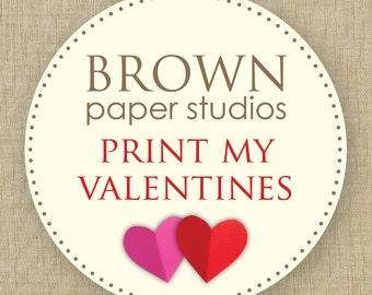 Printed school valentines. printed valentine cards