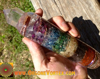 CUSTOM Orgone Chakra Power Healing Wand  -Energy Work- Meditation -EMF Blocker -Hand Made -Shaman Cleansing