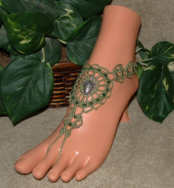 items similar to crochet beaded turtle barefoot sandals