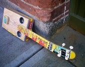 Ukulele- HandMade to Order - Skateboard - Cigar Box Ukulele - Unique Uke - Upcycled Ukulele