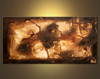 "Large Contemporary Abstract Painting, Modern Art on Canvas by Osnat - MADE-TO-ORDER - 48""x24"""